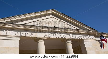 Entrance To A City Hall Municipal Building In France