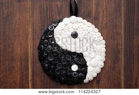 Yin And Yang Sign Close Up