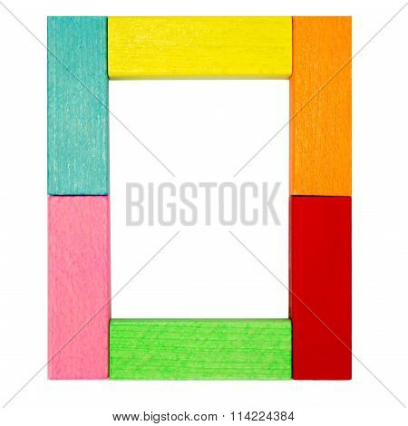 The Number Zero Colorful Wooden Isolated With Clipping Path