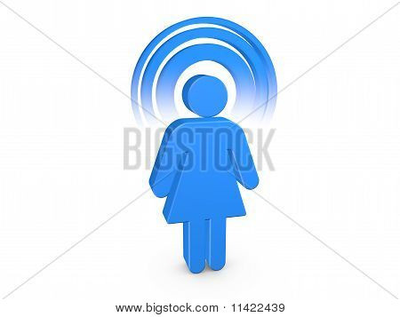 Blue Spiritual Girl With Visible Color Aura