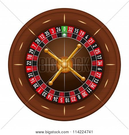 Casino gambling roulette wheel