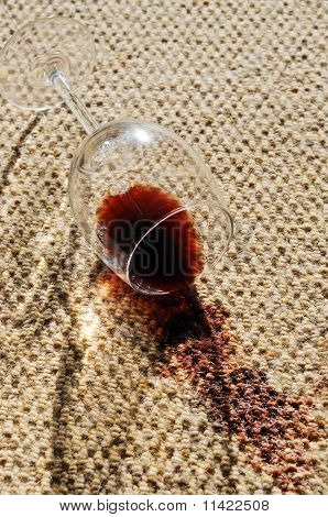Wine Spill On A Wool Carpet