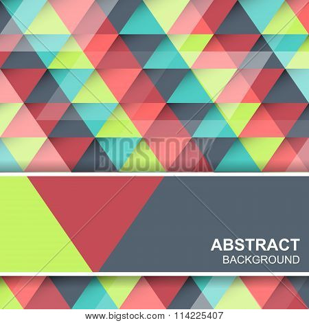 Abstract triangular colored concept. Vector background cover design or banner.