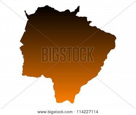 Map Of Mato Grosso Do Sul