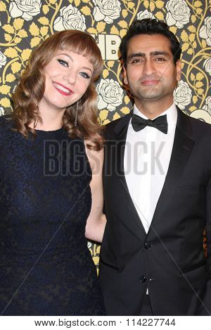 LOS ANGELES - JAN 10:  Emily V Gordon, Kumail Nanjiani at the HBO Golden Globes After Party 2016 at the Beverly Hilton on January 10, 2016 in Beverly Hills, CA