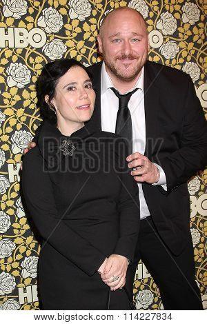 LOS ANGELES - JAN 10:  Alex Borstein, Will Sasso at the HBO Golden Globes After Party 2016 at the Beverly Hilton on January 10, 2016 in Beverly Hills, CA