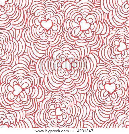 Love flowers pattern