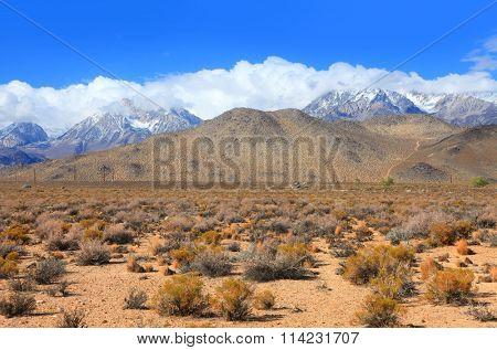 Eastern Sierra mountain landscape in California