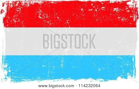 Luxembourg Vector Flag on White