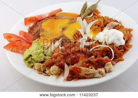Chicken Fajita Mexican Plate