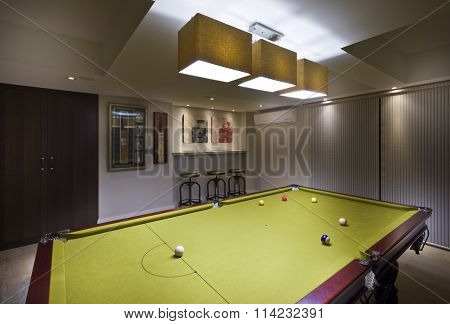 Pool Room In A Luxurious House