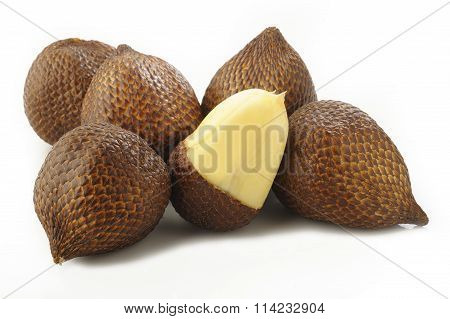 Salak Bali Fruit On White