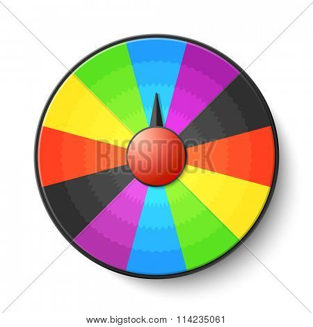Wheel of luck game. Vector.