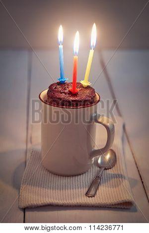 Mug Cake With Candle