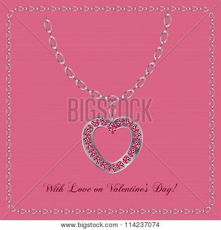 Jewelry In The Shape Of Heart Gem