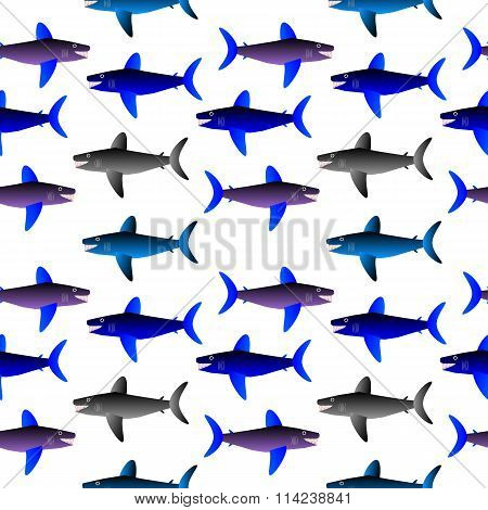 Shark Seamless Pattern.