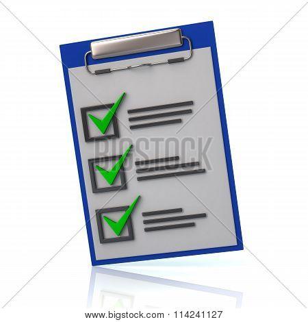 Illustration Of Blue Check List