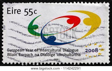 Postage Stamp Ireland 2008 Intercultural Dialogue