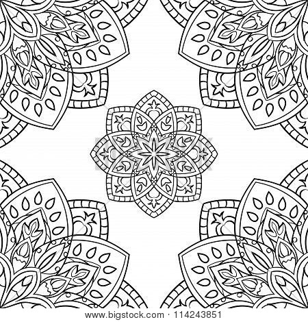 Pattern With Mandalas.