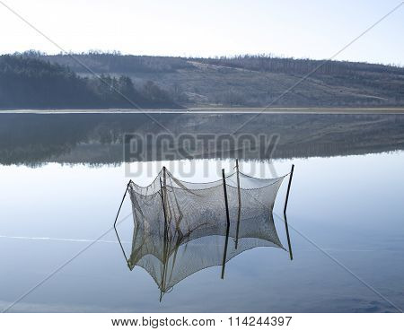 Breeding Pond For Fish In The Lake