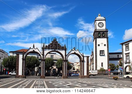 Portas Da Cidade (Gates To The City), Ponta Delgada, Sao Miguel Island, Azores, Portugal