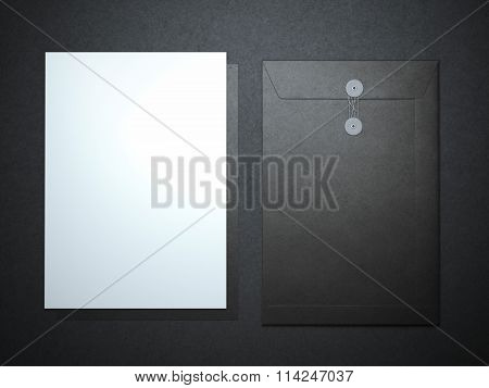 Blank paper sheet and folder