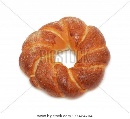 Bread 'russian Kolatch', Isolated