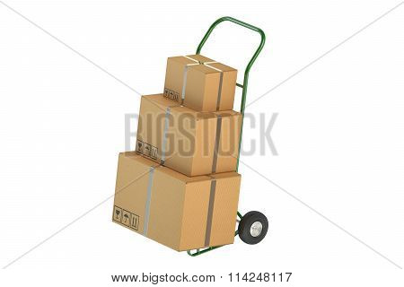 Cardboard Boxes With Hand Truck