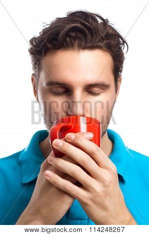 Man With Red Cup