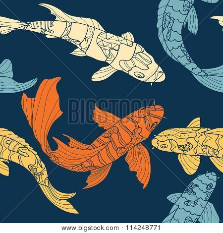 The pattern of koi