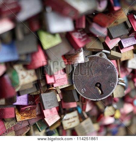 padlocks of loving couples
