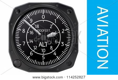 Altimeter vector illustration