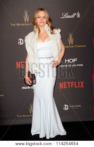 BEVERLY HILLS, CA - JAN. 10: Jennifer Jason Leigh arrives at the Weinstein Company and Netflix 2016 Golden Globes After Party, Sunday, January 10, 2016 at the Beverly Hilton Hotel, Beverly Hills, CA.