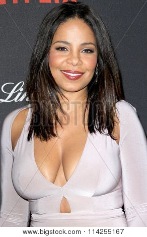 BEVERLY HILLS, CA - JAN. 10: Sanaa Lathan arrives at the Weinstein Company and Netflix 2016 Golden Globes After Party on Sunday, January 10, 2016 at the Beverly Hilton Hotel in Beverly Hills, CA.