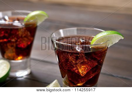 Cocktail Rum And Cola And Ice
