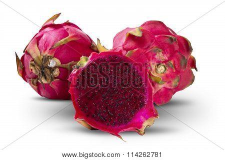 Group Detail Of Pitaya Fruits
