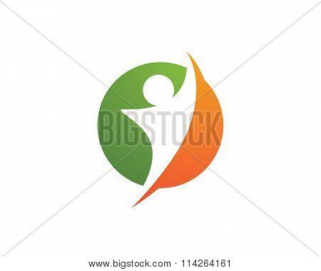 Human vector logo