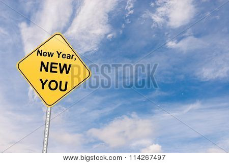New year New You Road sign