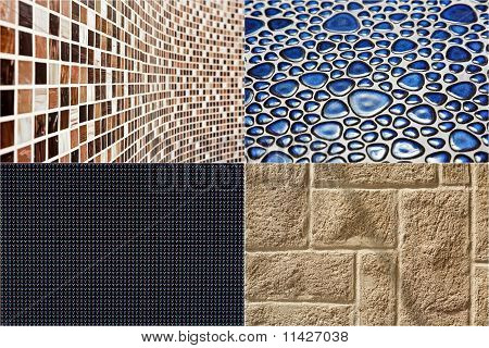 Collection Of Construction Materials Textures Backgrounds