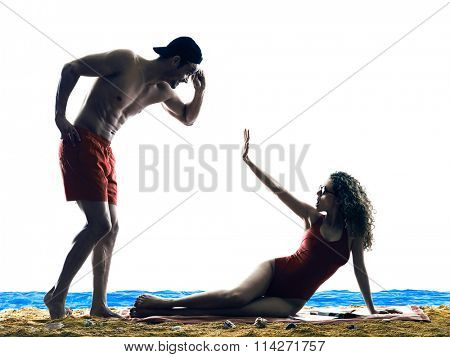 couple on the beach Sexual Harassment