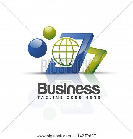 technology 3d logo
