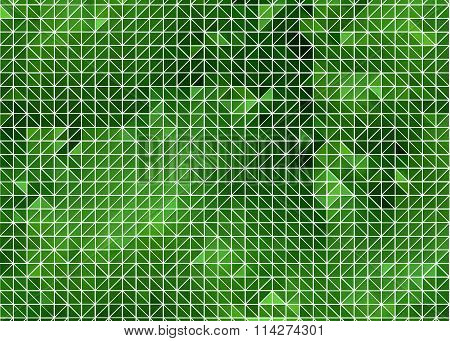 Green Abstract Backgroun (Geometric wireframe)