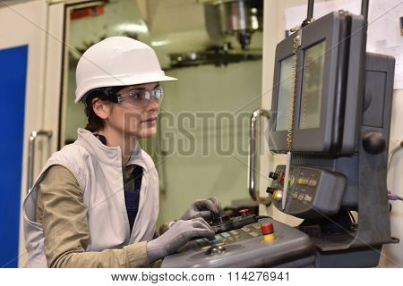 Industrial worker programming electronic machine