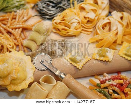 Ravioli And Other Fresh Homemade Pasta In Italy