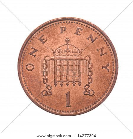 British One Penny Coin