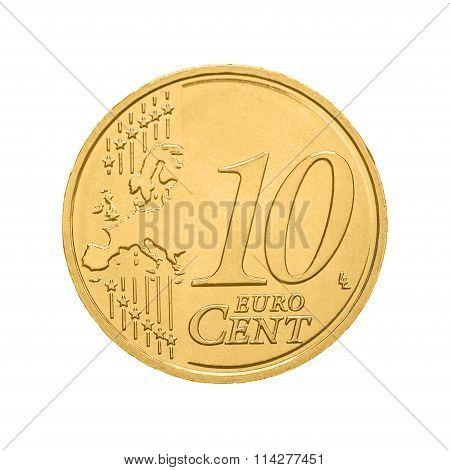 Ten euro cent coin