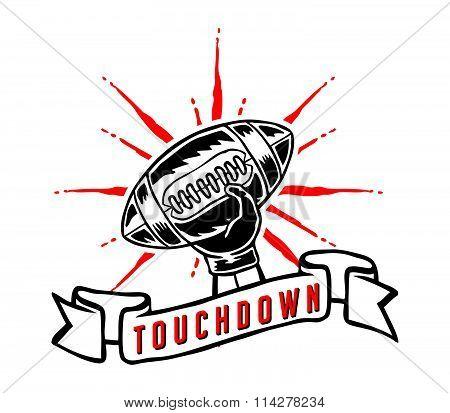 Touchdown Hand Draw