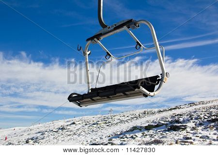 Aerial tramway in Mountain range Serra da Estrela, Portugal