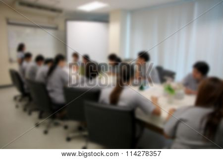 Blur Style Of Business People Were Consultation.