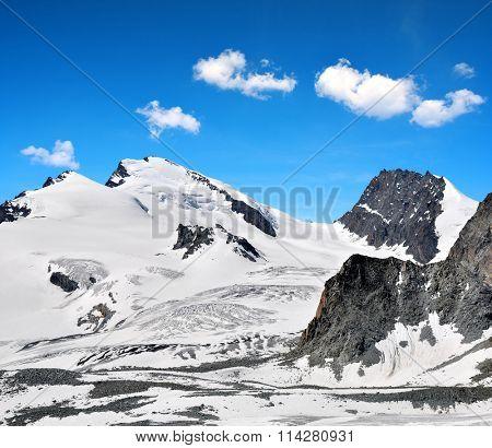 Strahlhorn and Rimpfischhorn in Pennine Alps, Switzerland